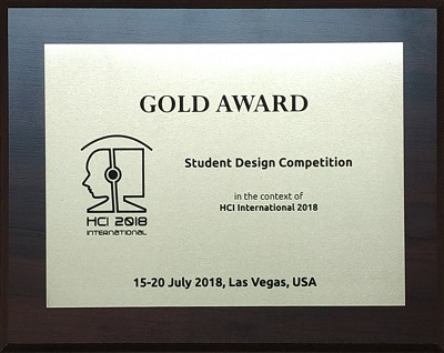 Student Design Competition GOLD Award. Details in text following the image.